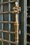 Brass church door handle Royalty Free Stock Photo