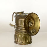 Brass Colored Antique Miners Light Stock Photo
