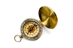 Brass compass Stock Images