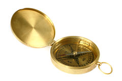 Brass compass Stock Photography