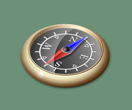 Brass compass Stock Image