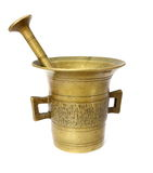 Brass container Stock Image