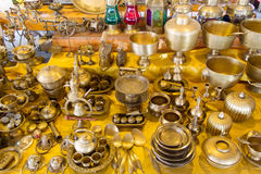 Brass cookware Stock Images