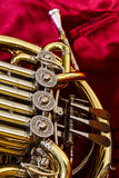 Brass cornet. Medium-sized wind instrument. Symphonic Band Stock Photos