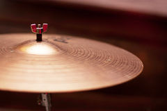 Brass cymbal Stock Photo