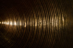 Brass cymbal texture Stock Photos