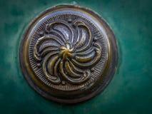 Brass door detail Royalty Free Stock Image