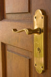 Brass door handle Royalty Free Stock Photo