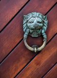 Brass door knocker Royalty Free Stock Images