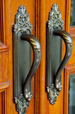 Brass door Royalty Free Stock Photography