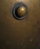 Brass doorbell Stock Image