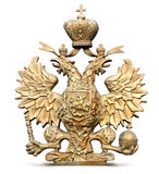 Brass double-headed eagle symbol of Russia. Photo Brass double-headed eagle symbol of Russia stock image