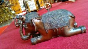 Brass elephant cast lots Royalty Free Stock Photography