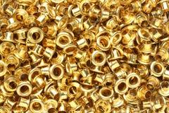 Brass eyelets Stock Image