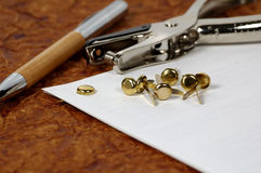 Brass Fasteners Stock Photo