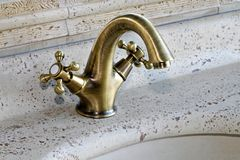 Brass faucet Royalty Free Stock Images