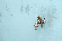 Brass faucet. royalty free stock image
