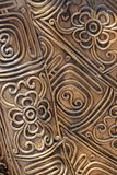 Brass filigree art. Stock Photos