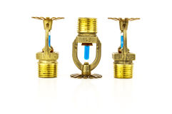 Brass fire sprinklers Stock Images