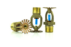 Brass fire sprinklers Royalty Free Stock Photo