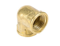 Brass fitting for plumbing Stock Photos