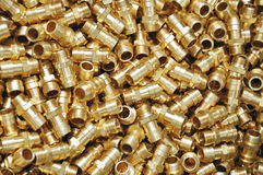 Brass fittings accessories background Stock Photos