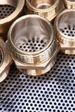 Brass Fittings for Water and Gas Royalty Free Stock Image