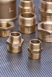 Brass Fittings for Water and Gas Stock Images
