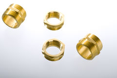 Brass fittings Stock Image