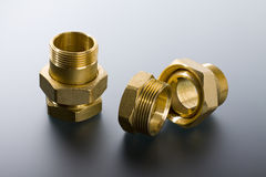 Brass fittings Stock Photography