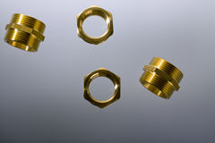 Brass fittings Royalty Free Stock Photos