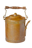 Brass food container with spoon Stock Photography