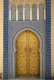 Brass gate in Marrakesh, Morocco Royalty Free Stock Photos