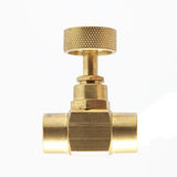 Brass gate valve Stock Images