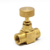 Brass gate valve Stock Photo
