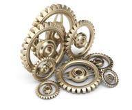 Brass gears Stock Image