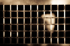 Brass grill Stock Photo