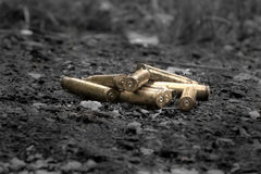 Brass Gun Shells royalty free stock photos