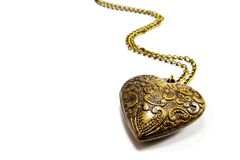 Brass heart Stock Images