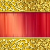 Brass Horizontal Banner In Red With Transparencies Stock Images