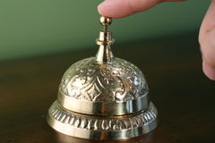 Brass Hotel Bell Royalty Free Stock Images