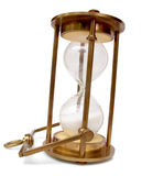 Brass Hourglass. Closeup View of Antique Brass Hourglass Royalty Free Stock Photo