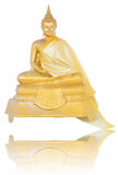 brass Image of Buddha sitting Stock Photos