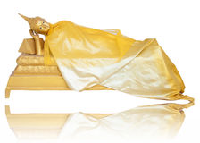 brass Image of Buddha sleeping on oneside Royalty Free Stock Photo