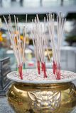 Brass Incense pot. On background blurred stock photos