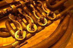 Brass instrument stock image