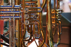 Brass instruments Royalty Free Stock Photos