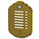 Brass intercom with camera. Illustration, Brass intercom with camera Royalty Free Stock Photography