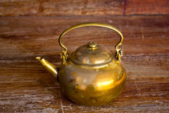 A brass Kettle Royalty Free Stock Photography
