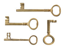 Brass Keys, Isolated Stock Image